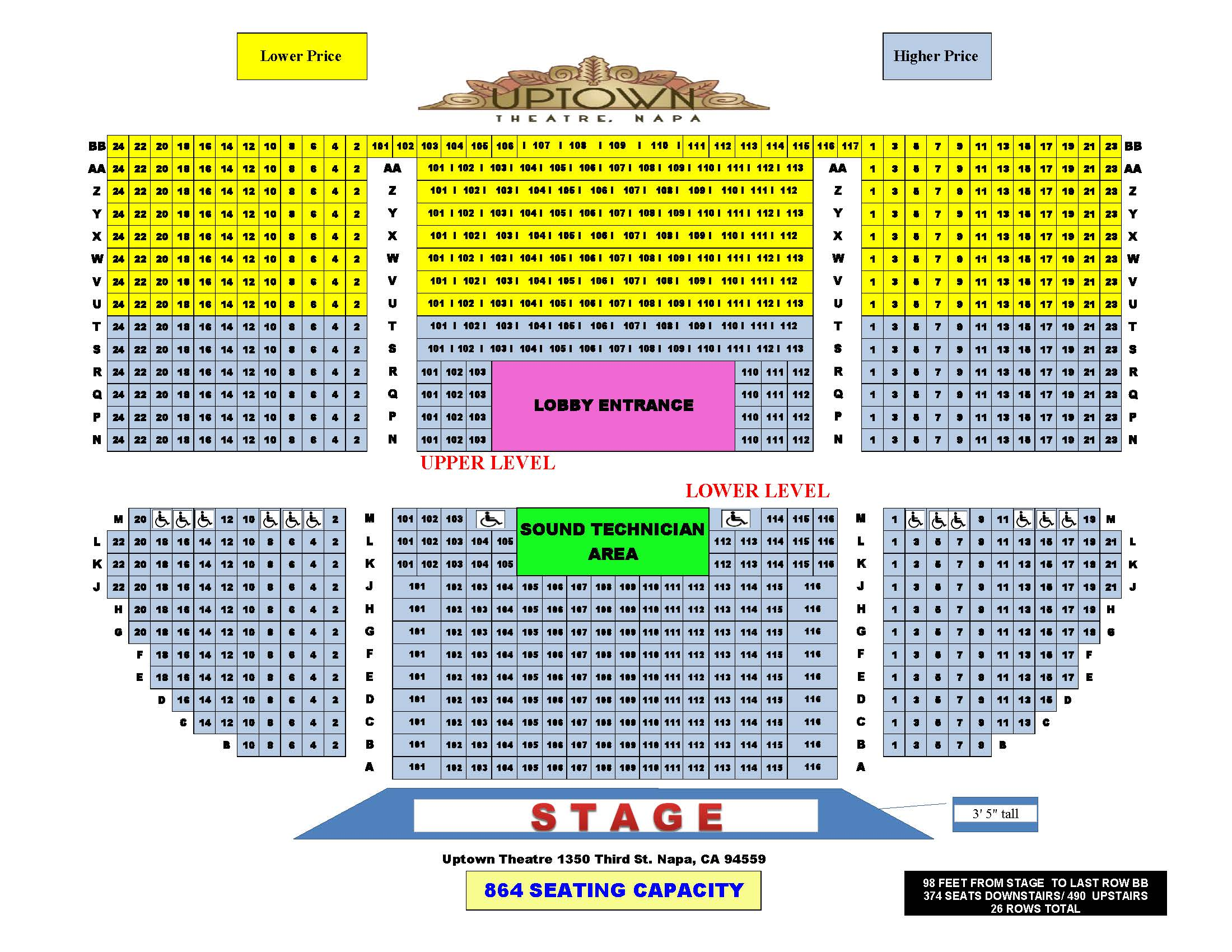 Seating-Chart-Uptown-Theatre-PDF State Theater Ithaca Seating Chart