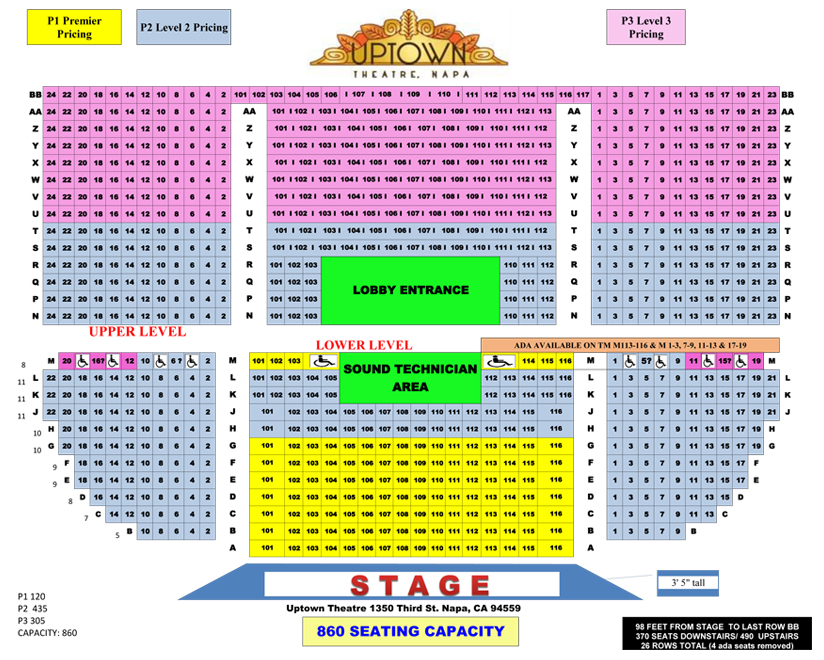 Uptown Theatre Seating Chart 1